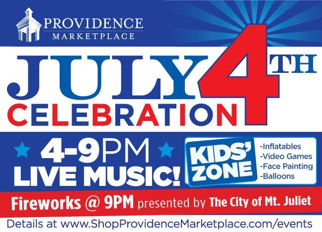 Providence Marketplace July 4th Celebration