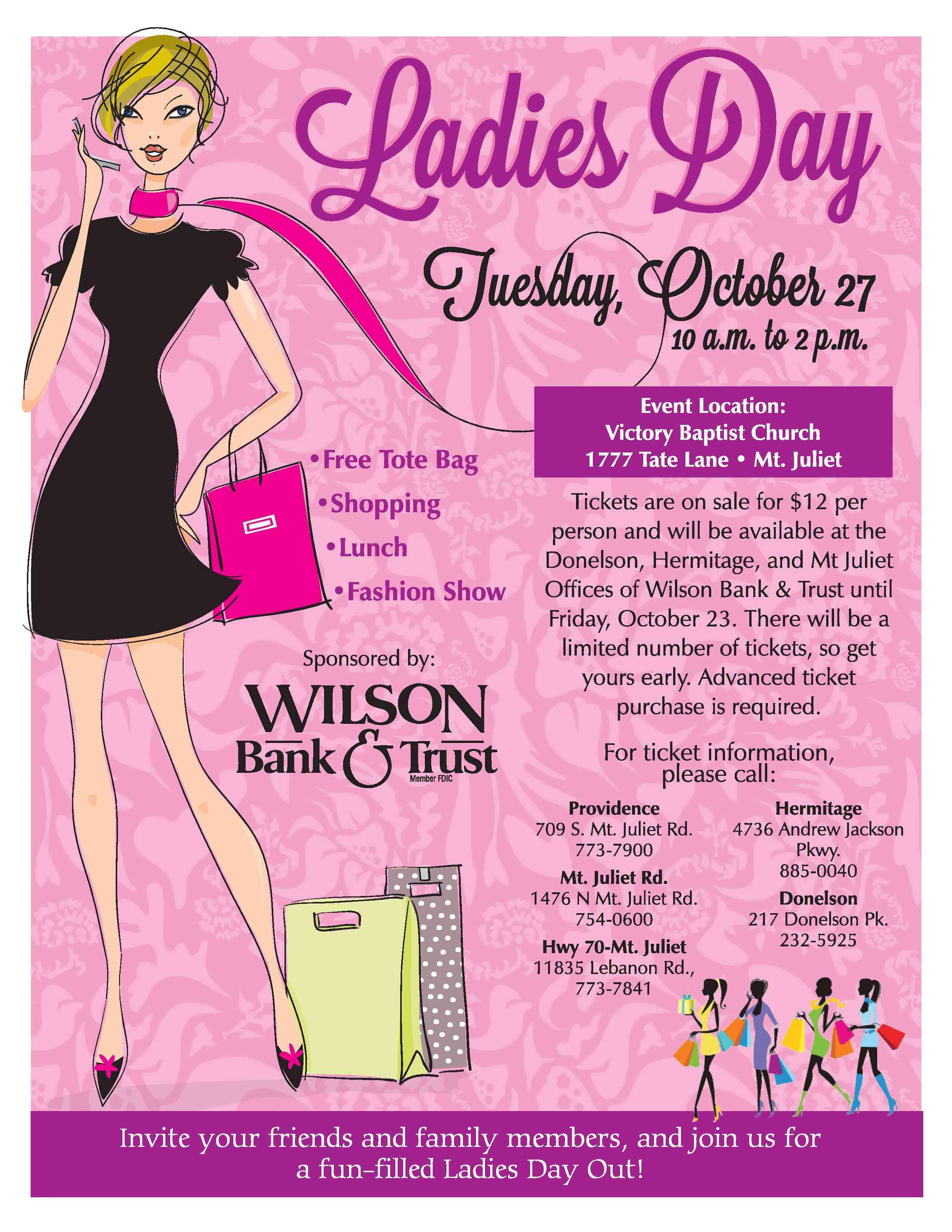 Ladies Day Wilson Bank & Trust