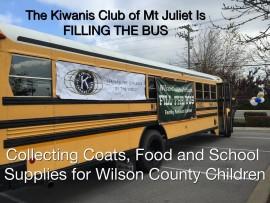 Kiwanis Club Fill The Bus