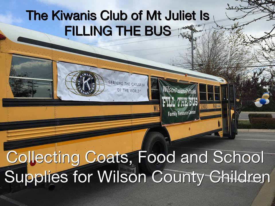 Kiwanis Club Fill The Bus