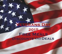 2015 Veterans Day Free Meals, Discounts, Sales and Deals