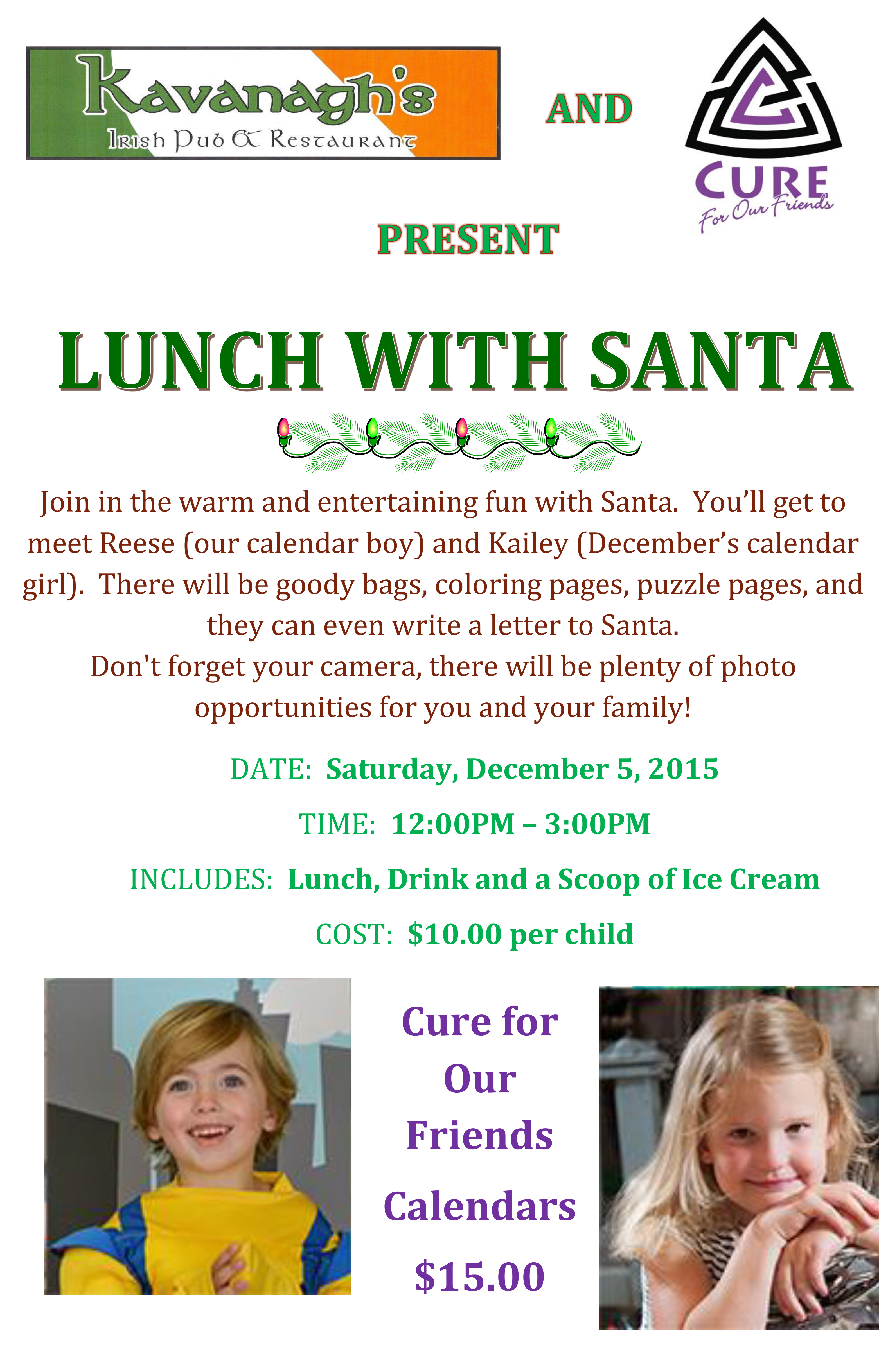 Lunch with Santa Flyer 2015